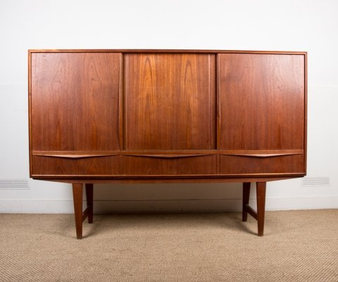 Danish Teak Highboard by E.W Bach for Sejling Skabe, 1960