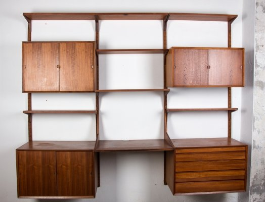 Danish modular Teak Wall system by Poul Cadovius, 1960