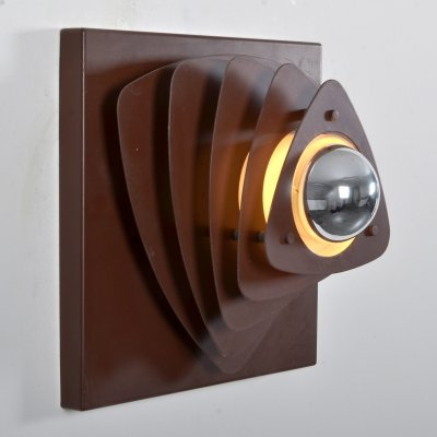 Wall sconce in brown metal from ES Moderne Leuchten, 1960s