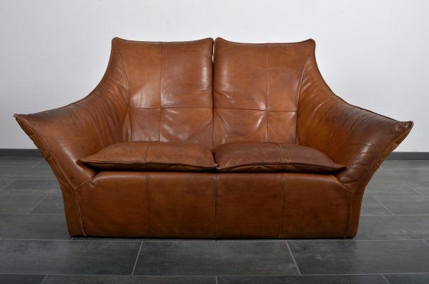Montis Denver 2-seater sofa in cognac leather by Gerard van den Berg, 1970s