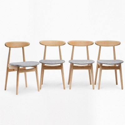 Set of 4 type 5912 chairs, 1960s