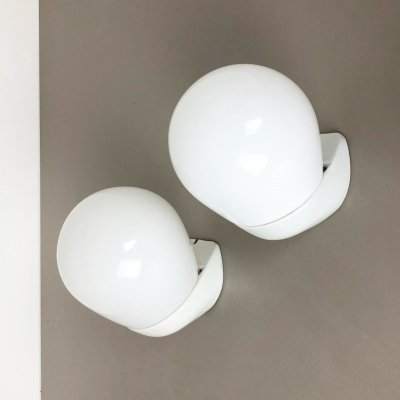 Set of 2 Porcelain Wall Light 'WV340' by Wilhelm Wagenfeld for Lindner Germany, 1960