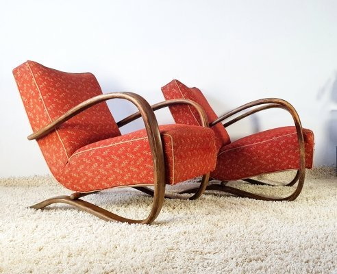 Pair of Halabala H-269 armchairs, 1930s