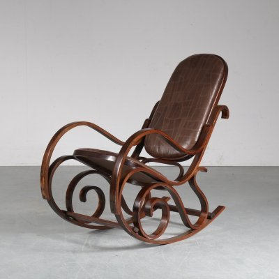 Rocking chair by Luigi Crassevig, Italy 1970s