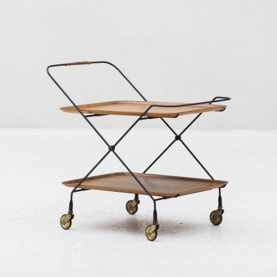 Trolley by Paul Nagel for Jie Gantofta, Sweden 1950's