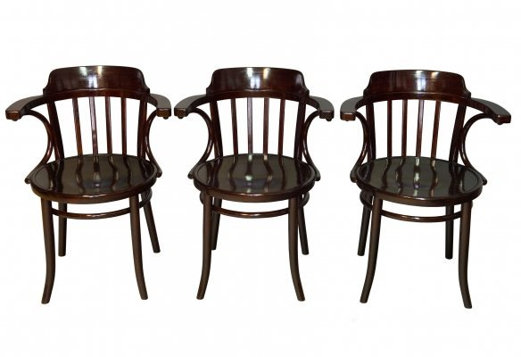 Set of Three 1920's Dining Chairs model no.13 by Thonet