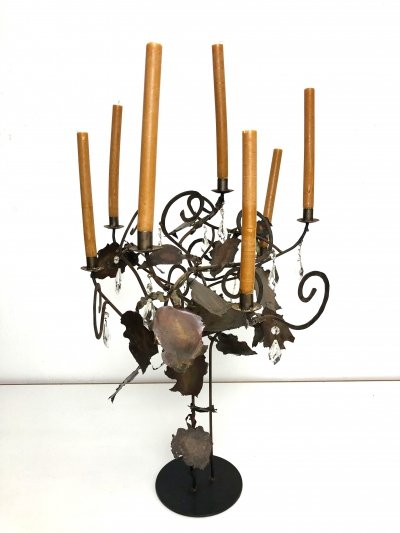 Majestic candle stick by the Dutch artist Maroeska Metz