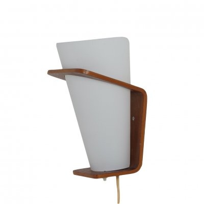 Teak Wall Lamp NX 41 by Louis Kalff for Philips, 1960s