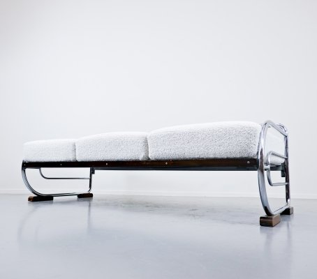 Art Deco Tubular Steel Sofa by Hynek Gottwald, 1930s