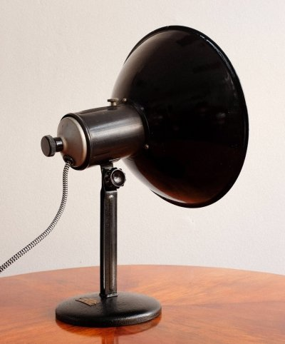 Black industrial table lamp, 1960s