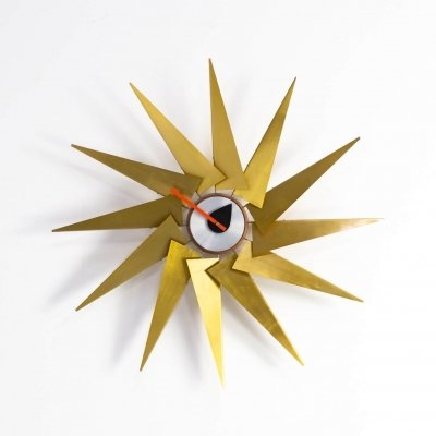 Midcenury design 'turbine' wall clock