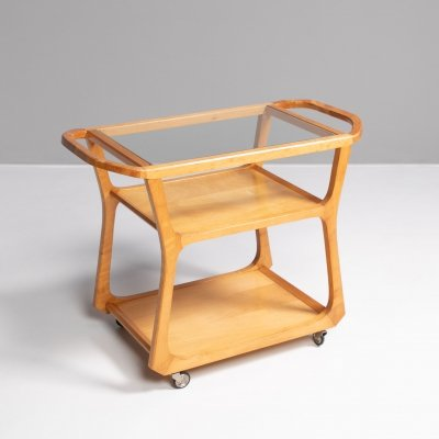 Anthroposophical tea trolley mod. 1296 by Felix Kayser, 1930s