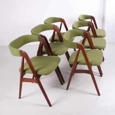 Set of 6 'Model 205' Dining Chairs by Th. Harlev for Farstrup Møbler, 1960s