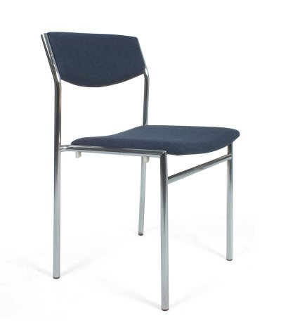 Set of 6 blue dining chairs by Gijs van der Sluis