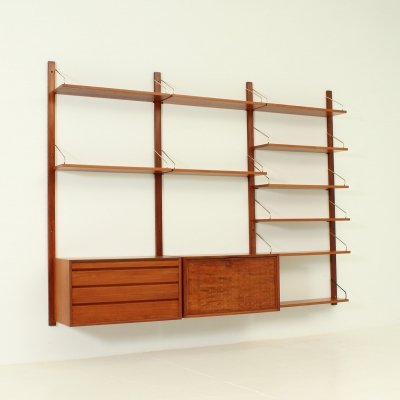 Teak Wall Unit by Poul Cadovius for Cado