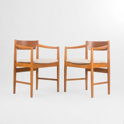 Set of 2 Danish chairs with armrest, Denmark 1960's
