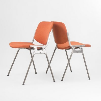 Set of 2 DSC 106 chair by Giancarlo Piretti for Castelli, Italy 1960's