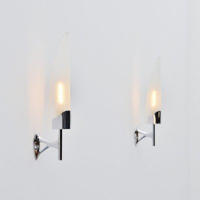 Pair of Max Ingrand 2080 sconces by Fontana Arte, Italy 1955