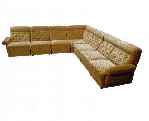 Vintage velour 7 elements modular sofa