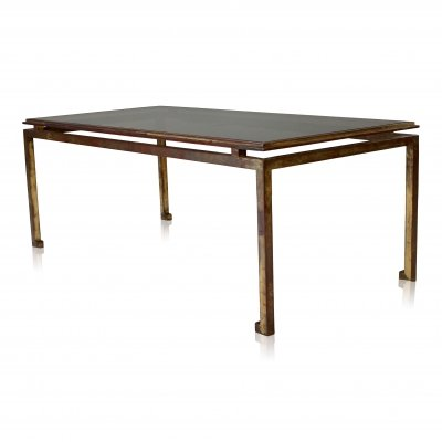 Vintage Hollywood Glamour style gilt plated Maison Ramsay coffee table, 1960s