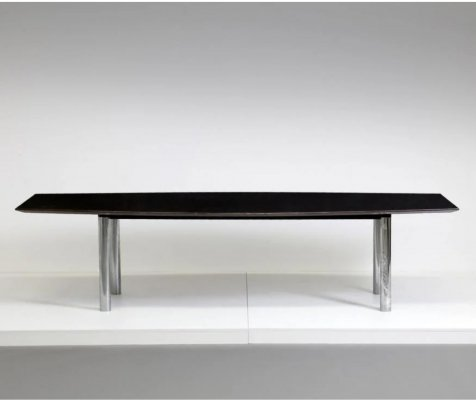 Vintage Mid-Century Modern Boat shaped conference table by Florence Knoll