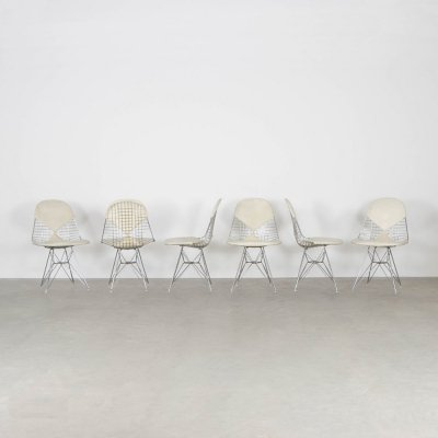 Set of 6 DKR dining chairs by Charles & Ray Eames for Herman Miller, 1970s