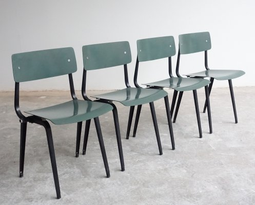 Rare Revolt 'folding' chairs by Friso Kramer for Ahrend de Cirkel, 1953