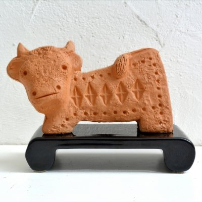 Ceramic Scavo series cow by Aldo Londi for Bitossi, 60s