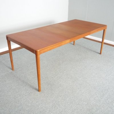 Danish Teak Dining Table by H.W. Klein for Bramin, 1960s