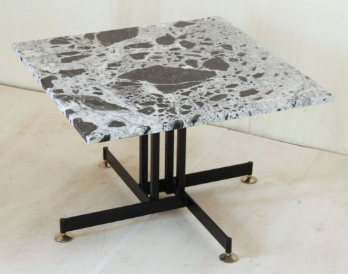 1960s Vintage Italian coffee Table with Marble Top