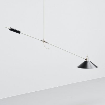JJM Hoogervorst for Anvia counter balance ceiling lamp, Holland 1957