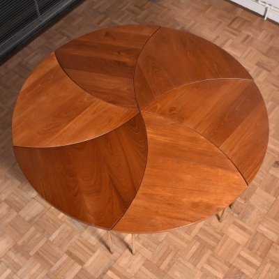 Complete set of 6 Peter Hvidt & Orla Molgaard Nielsen Pinwheel Tables