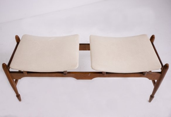 Italian bench in Wood & Leather, 1950s