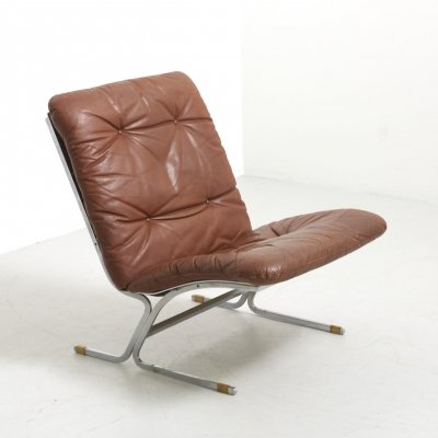 Modern Easy Chair with Steel Frame, 1960's