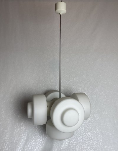 Napako milk glass chandelier