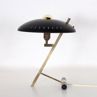 Brass 'Z' or 'Decora' desk lamp by Louis Kalff for Philips, 1960's