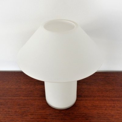 White frosted glass table lamp for Hala, The Netherlands 1970's/1980's