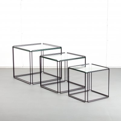 Isocele nesting table by Max Sauze for Atrow, 1970s