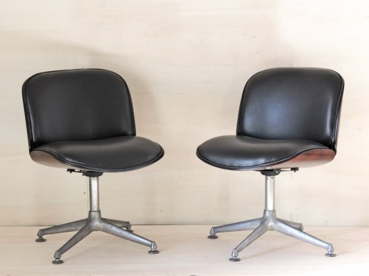 Pair of Ico Parisi for Mim Roma Desk Armchairs, 1960s