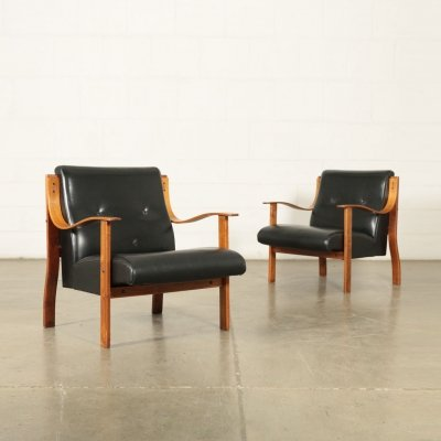 Pair of 1950s Armchairs by Mario Bellini for La Rinascente