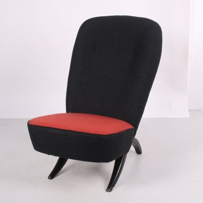 Vintage Dutch design Congo chair by Theo Ruth for Artifor,t, 1950s
