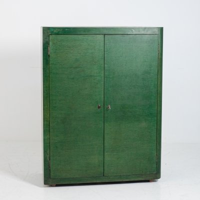Vittorio Valabrega cabinet in green wood, 1950s