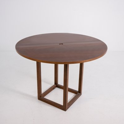Limited edition Pierluigi Ghianda 'Gabbiano' folding table in walnut, 1970s