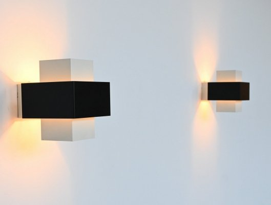 J.J.M. Hoogervorst sconces by Anvia, The Netherlands 1960