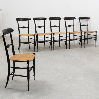 6 'Campanino' chairs by Colombo Sanguineti for Azucena, 1950s