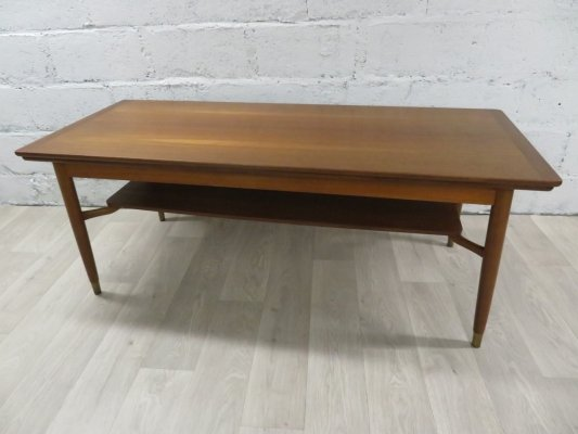 Mid-Century Scandinavian Teak Coffee Table with Extensions
