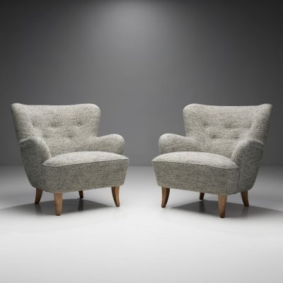 Pair of 'Laila' Armchairs by Ilmari Lappalainen for Asko, Finland 1948