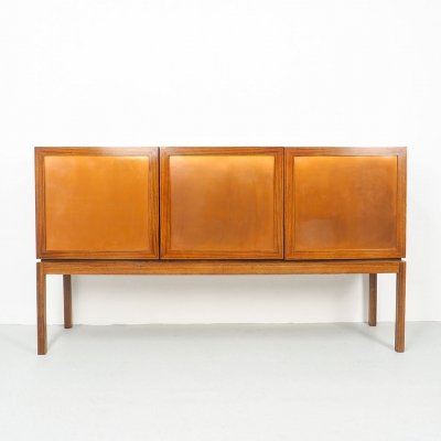 German Rosewood High Sideboard with copper, 1960s