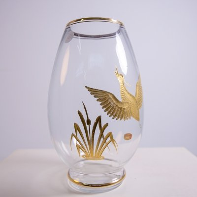 Vase in Murano Glass & Gold by Ferro Brother's for Finzi, 1950s