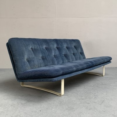 Corduroy sofa by Kho Liang Ie for Artifort, Netherlands 1968